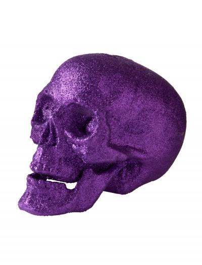 "7"" Large Purple Glitter Skull, halloween costume (7"" Large Purple Glitter Skull)"