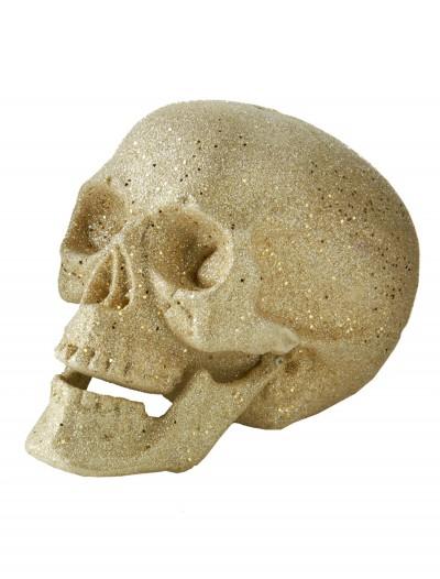 "7"" Large Silver Glitter Skull, halloween costume (7"" Large Silver Glitter Skull)"
