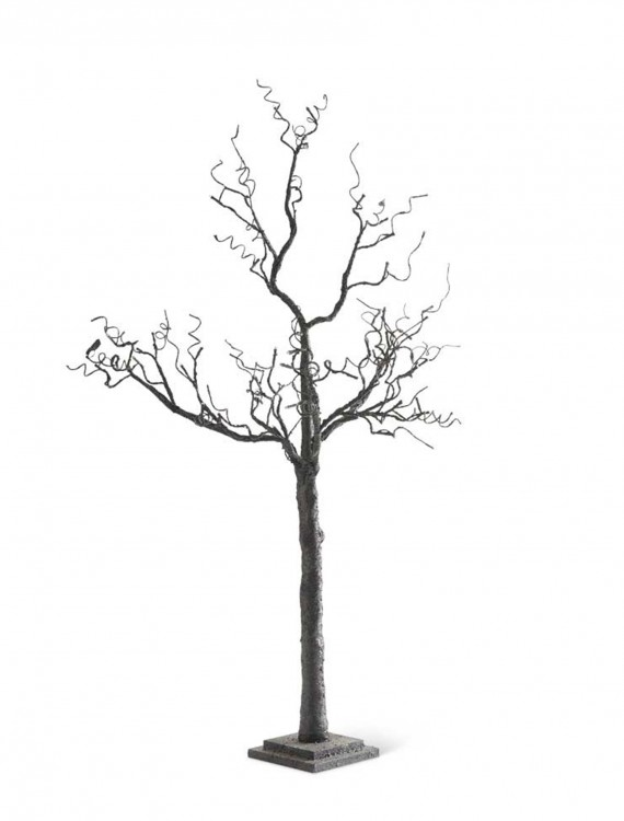 "70"" Black Tree w/ Glitter & 72 LED Lights, halloween costume (70"" Black Tree w/ Glitter & 72 LED Lights)"