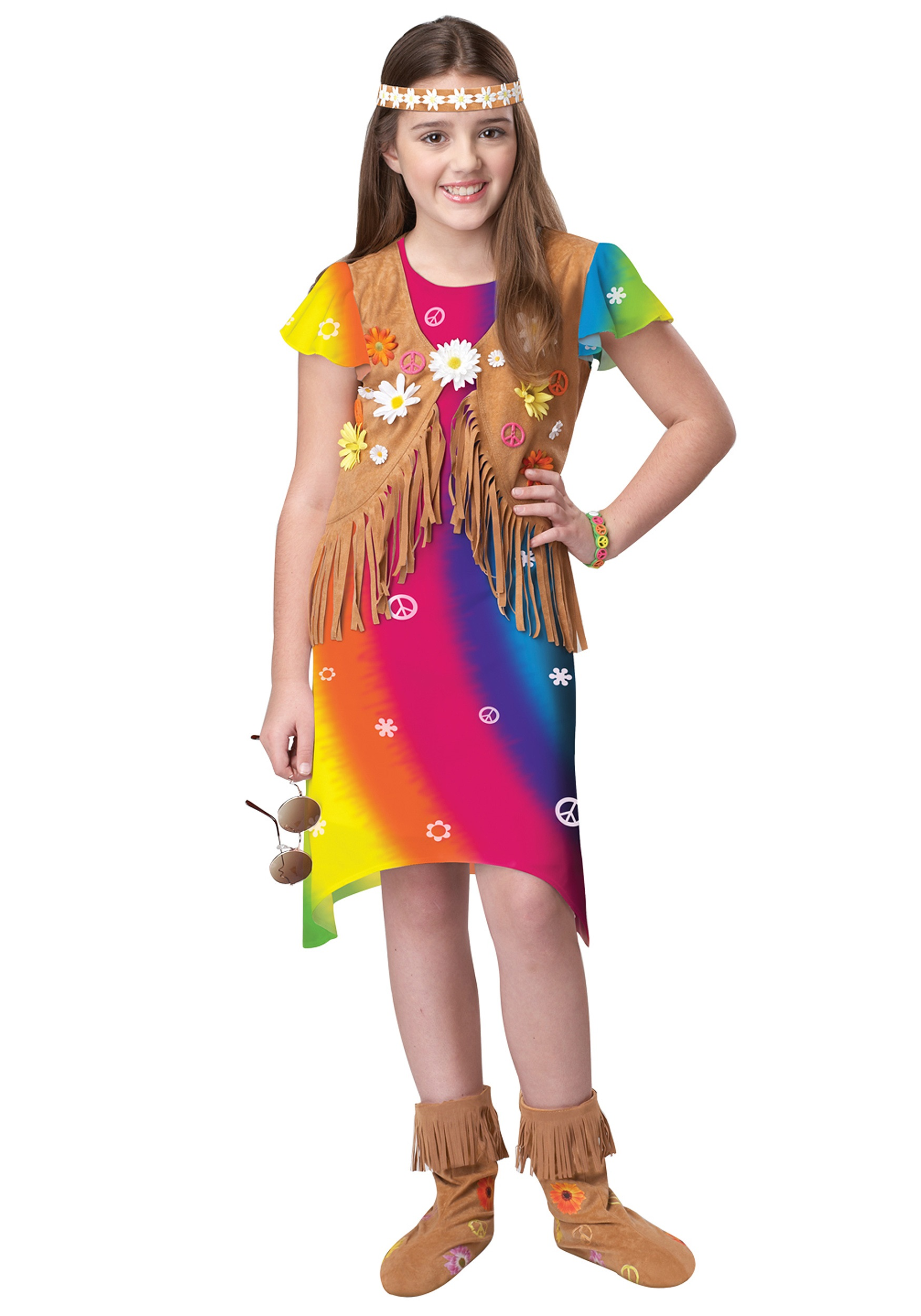 70s Flower Child Costume  sc 1 st  Halloween Costumes : hippie costume kid - Germanpascual.Com