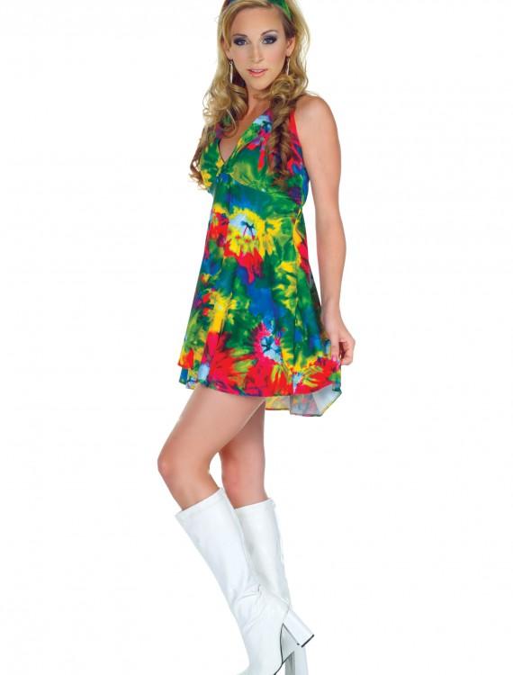 70s Tie Dye Diva Costume, halloween costume (70s Tie Dye Diva Costume)