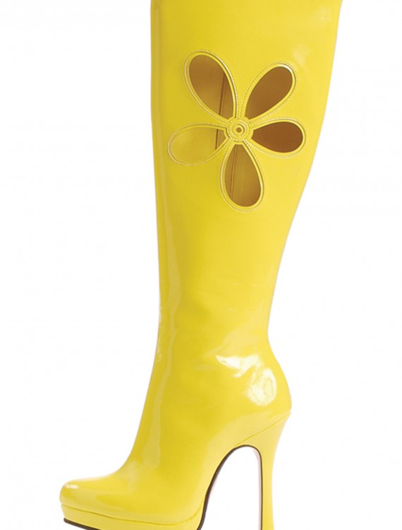 70's Yellow Ladies Boots, halloween costume (70's Yellow Ladies Boots)