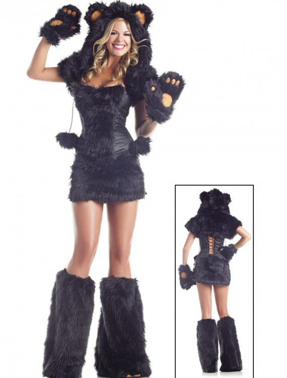 8 pc Deluxe Black Bear Costume, halloween costume (8 pc Deluxe Black Bear Costume)