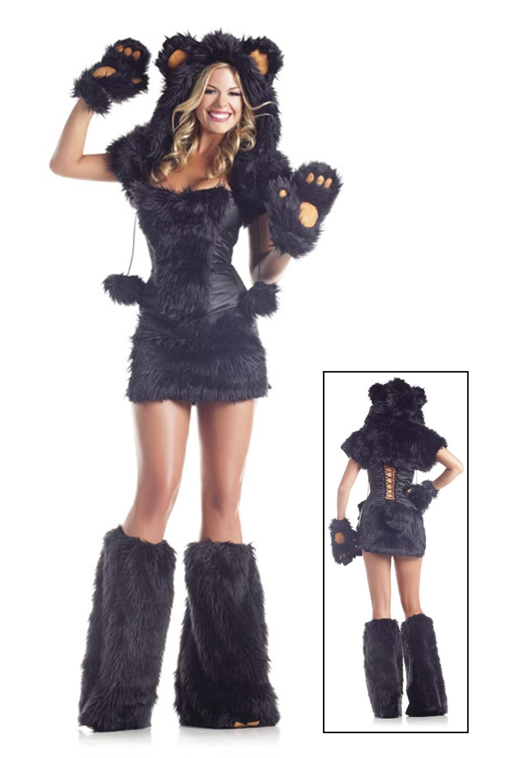 8 pc deluxe black bear costume - halloween costumes