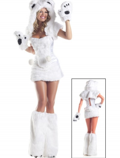 8 pc Deluxe Polar Bear Costume, halloween costume (8 pc Deluxe Polar Bear Costume)