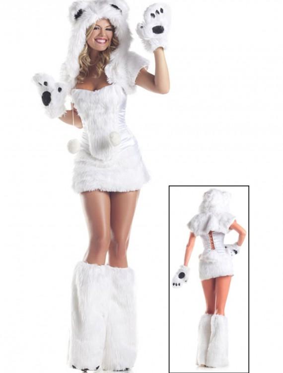 8 pc Deluxe Polar Bear Costume, halloween costume (8 pc Deluxe Polar Bear Costume)