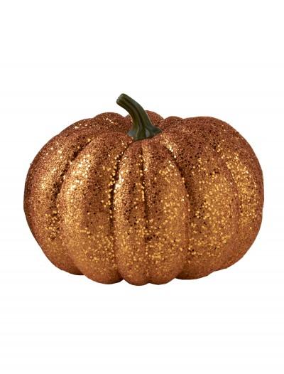 """8"""" Round Orange Glitter Pumpkin, halloween costume (8"""" Round Orange Glitter Pumpkin)"""
