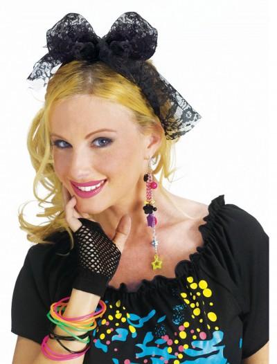 80's Lace Headband, halloween costume (80's Lace Headband)