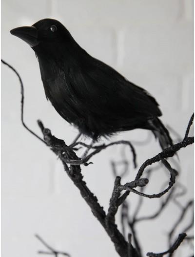 "8.5"" Glittered Crow, halloween costume (8.5"" Glittered Crow)"