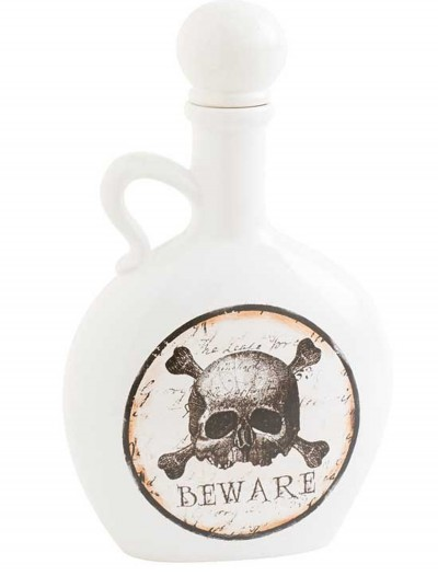 "8.5"" White and Brown Bottle with Skull & Crossbones, halloween costume (8.5"" White and Brown Bottle with Skull & Crossbones)"