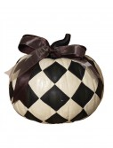 9 Inch Resin Black & White Diamond Pumpkin, halloween costume (9 Inch Resin Black & White Diamond Pumpkin)