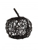 "9.5"" Black Wire Glitter Pumpkin, halloween costume (9.5"" Black Wire Glitter Pumpkin)"