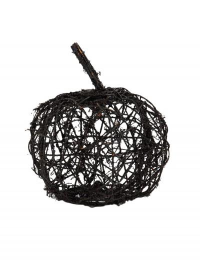 """9.5"""" Black Wire Glitter Pumpkin, halloween costume (9.5"""" Black Wire Glitter Pumpkin)"""