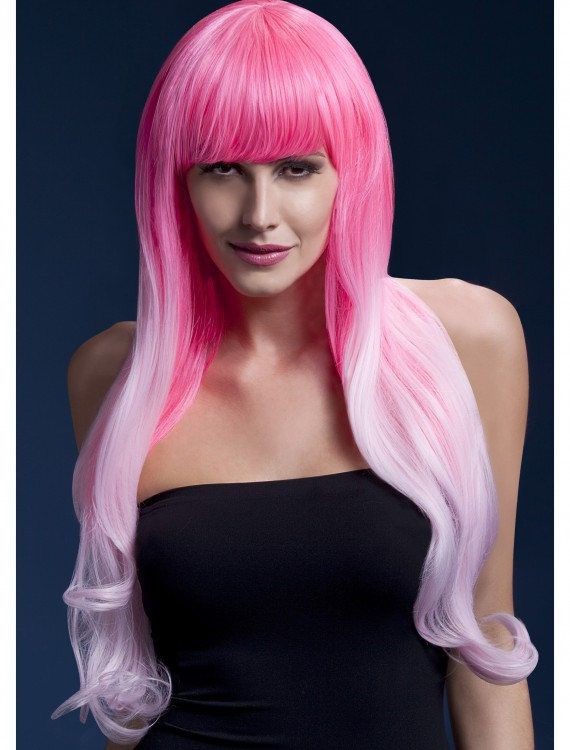 Styleable Fever Emily Pink Two Tone Wig, halloween costume (Styleable Fever Emily Pink Two Tone Wig)