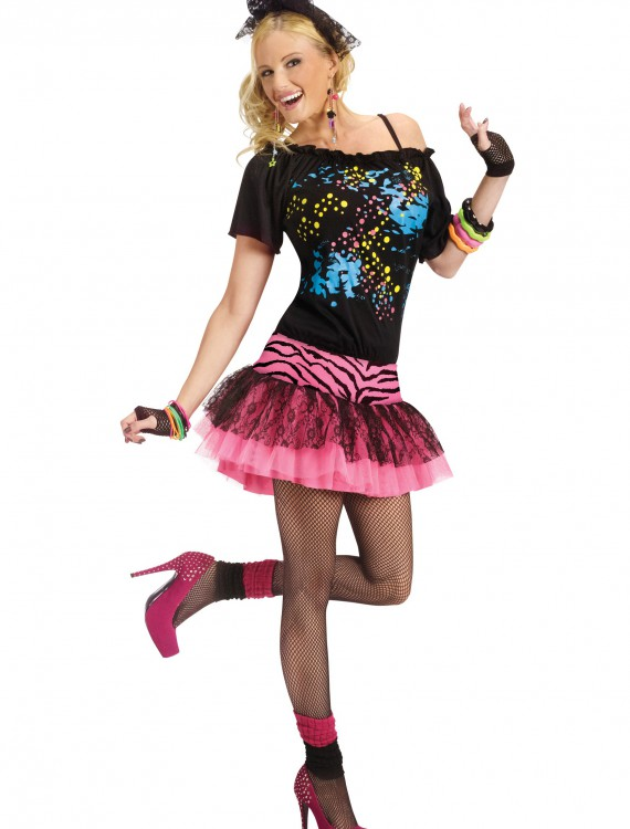 Adult 80s Pop Party Costume, halloween costume (Adult 80s Pop Party Costume)