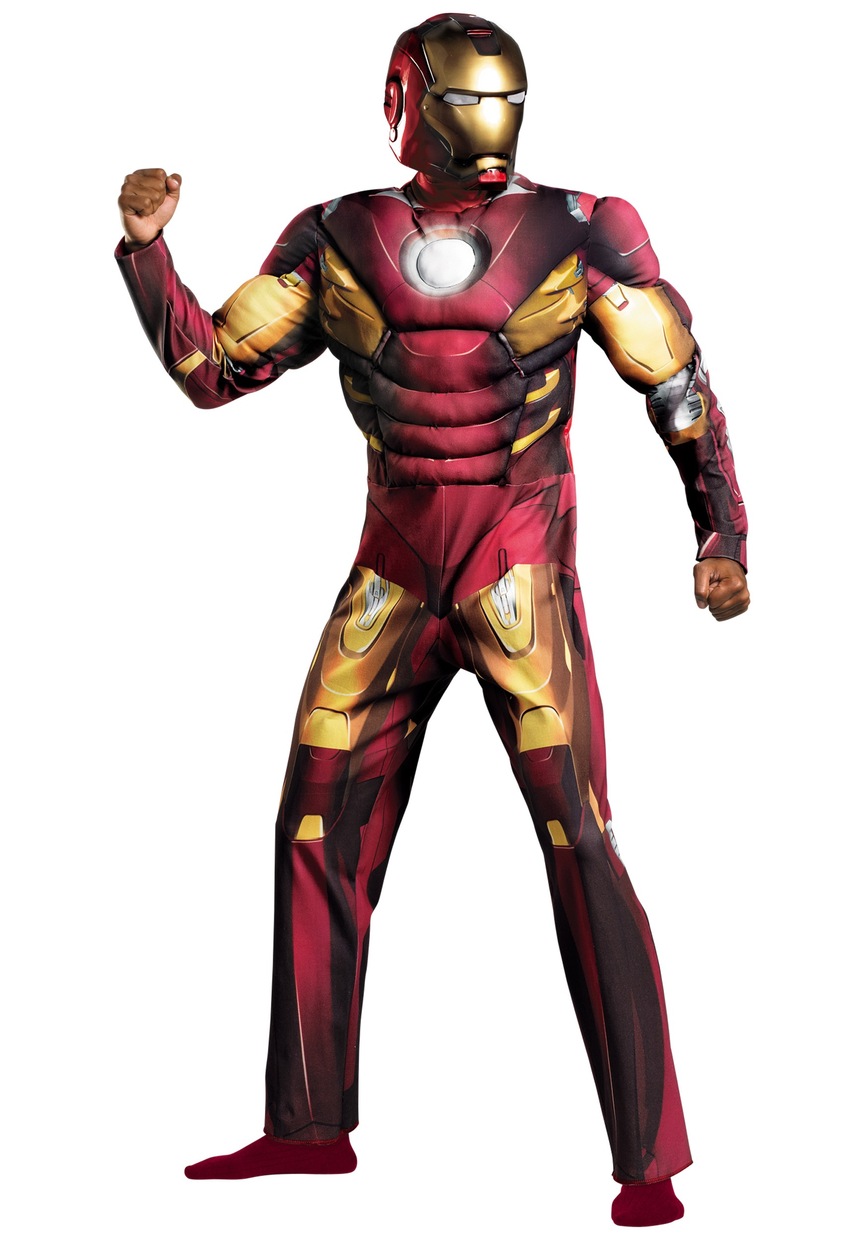 Adult Avengers Iron Man Muscle Costume  sc 1 st  Halloween Costumes & Adult Avengers Iron Man Muscle Costume - Halloween Costumes