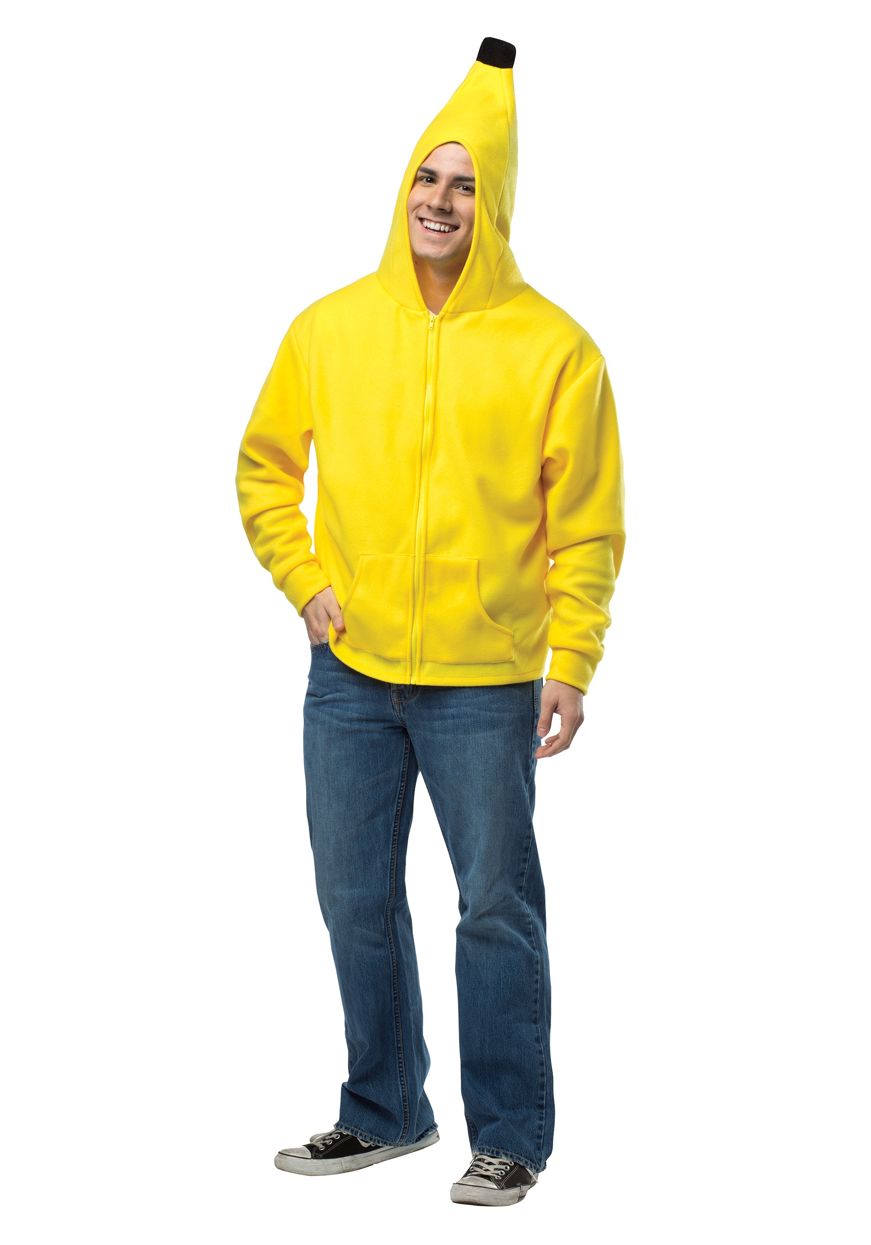 Back toAdult Costumes Banana Costumes Boy Costumes Food u0026 Drink Costumes Food Costumes Funny Costumes Girl Costumes Kids Costumes Menu0027s Costumes ...  sc 1 st  Halloween Costumes & Adult Banana Hoodie - Halloween Costumes