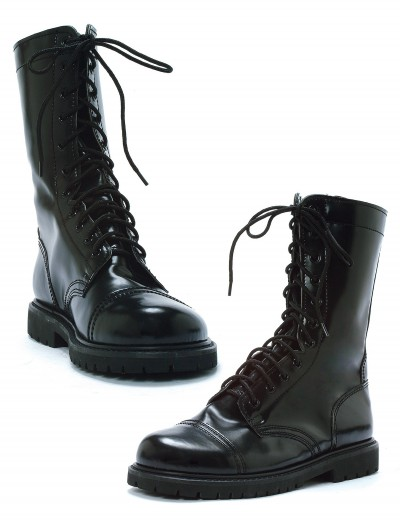 Adult Black Combat Boots, halloween costume (Adult Black Combat Boots)