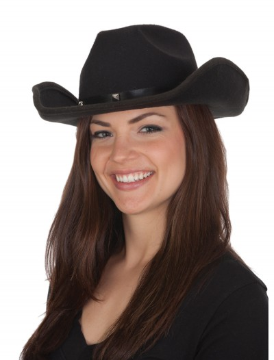 Adult Black Cowboy Hat, halloween costume (Adult Black Cowboy Hat)