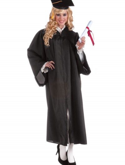 Adult Black Graduation Robe, halloween costume (Adult Black Graduation Robe)