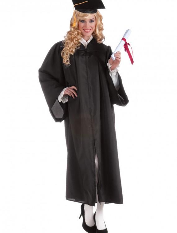 Adult Black Graduation Robe, halloween costume (Adult Black Graduation Robe)