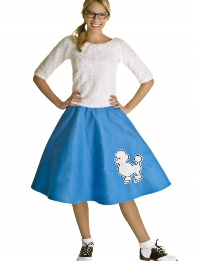 Adult Blue 50s Poodle Skirt, halloween costume (Adult Blue 50s Poodle Skirt)