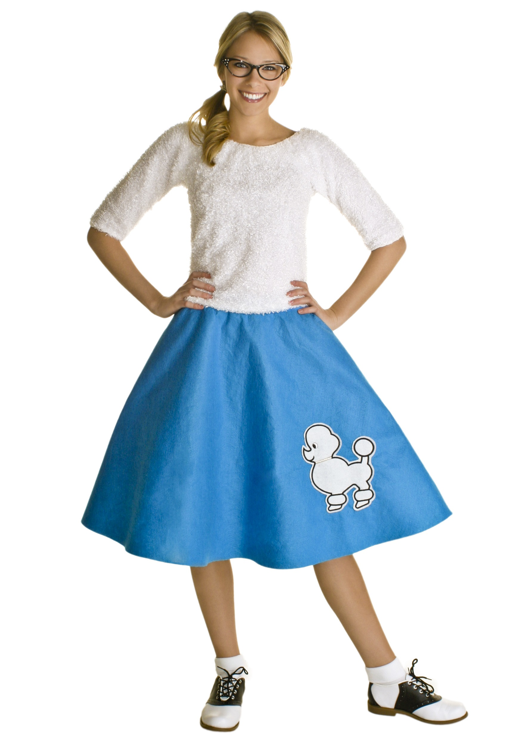 Adult Blue 50s Poodle Skirt  sc 1 st  Halloween Costumes & Adult Blue 50s Poodle Skirt - Halloween Costumes