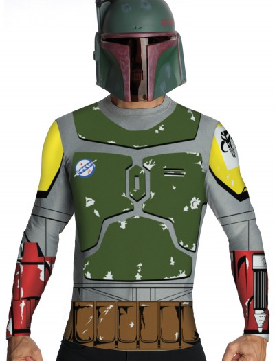Adult Boba Fett Top and Mask, halloween costume (Adult Boba Fett Top and Mask)