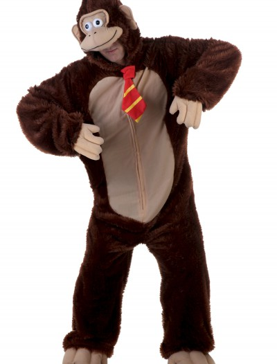 Adult Brown Gorilla w/ Tie Costume, halloween costume (Adult Brown Gorilla w/ Tie Costume)
