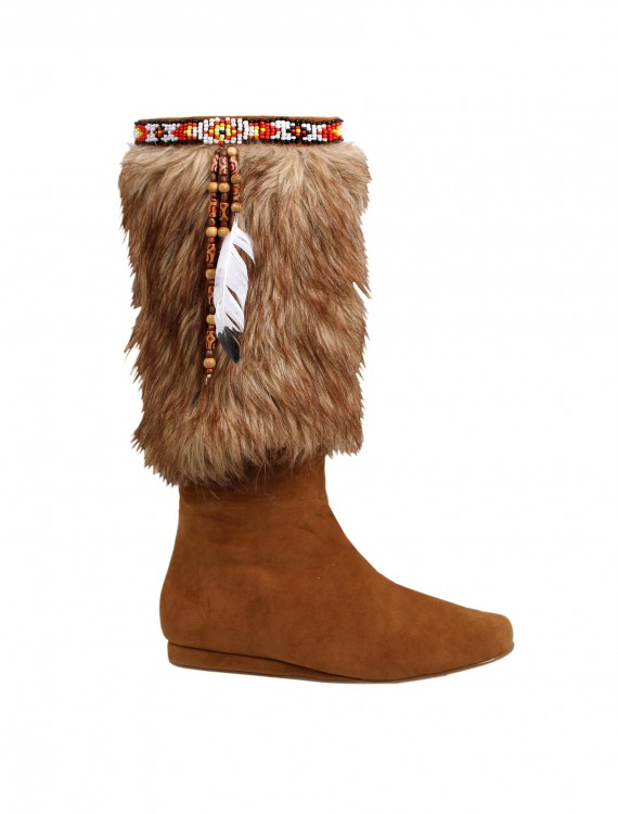 Adult Brown Indian Boots, halloween costume (Adult Brown Indian Boots)