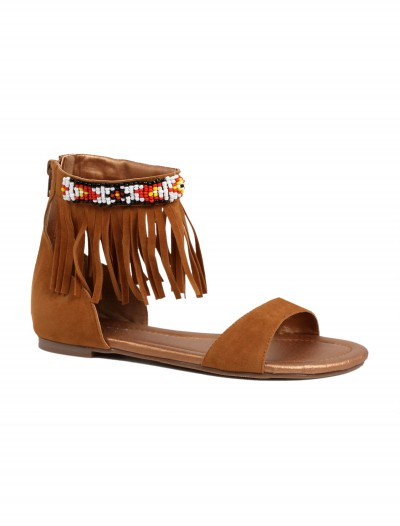 Adult Brown Indian Sandals, halloween costume (Adult Brown Indian Sandals)