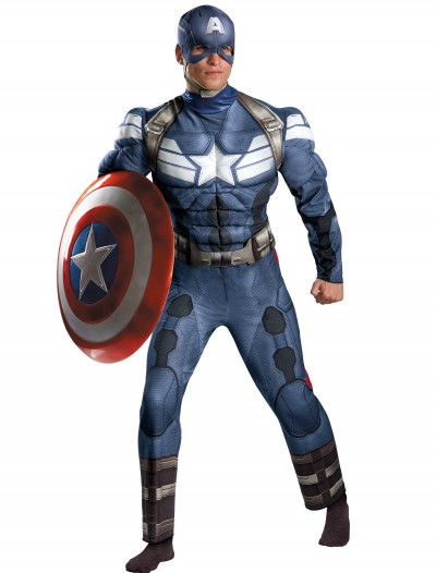 Adult Captain America Movie 2 Classic Muscle Costume, halloween costume (Adult Captain America Movie 2 Classic Muscle Costume)