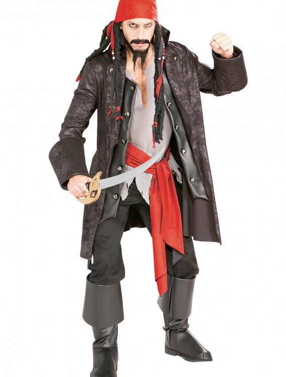 Adult Captain Cutthroat Pirate Costume, halloween costume (Adult Captain Cutthroat Pirate Costume)