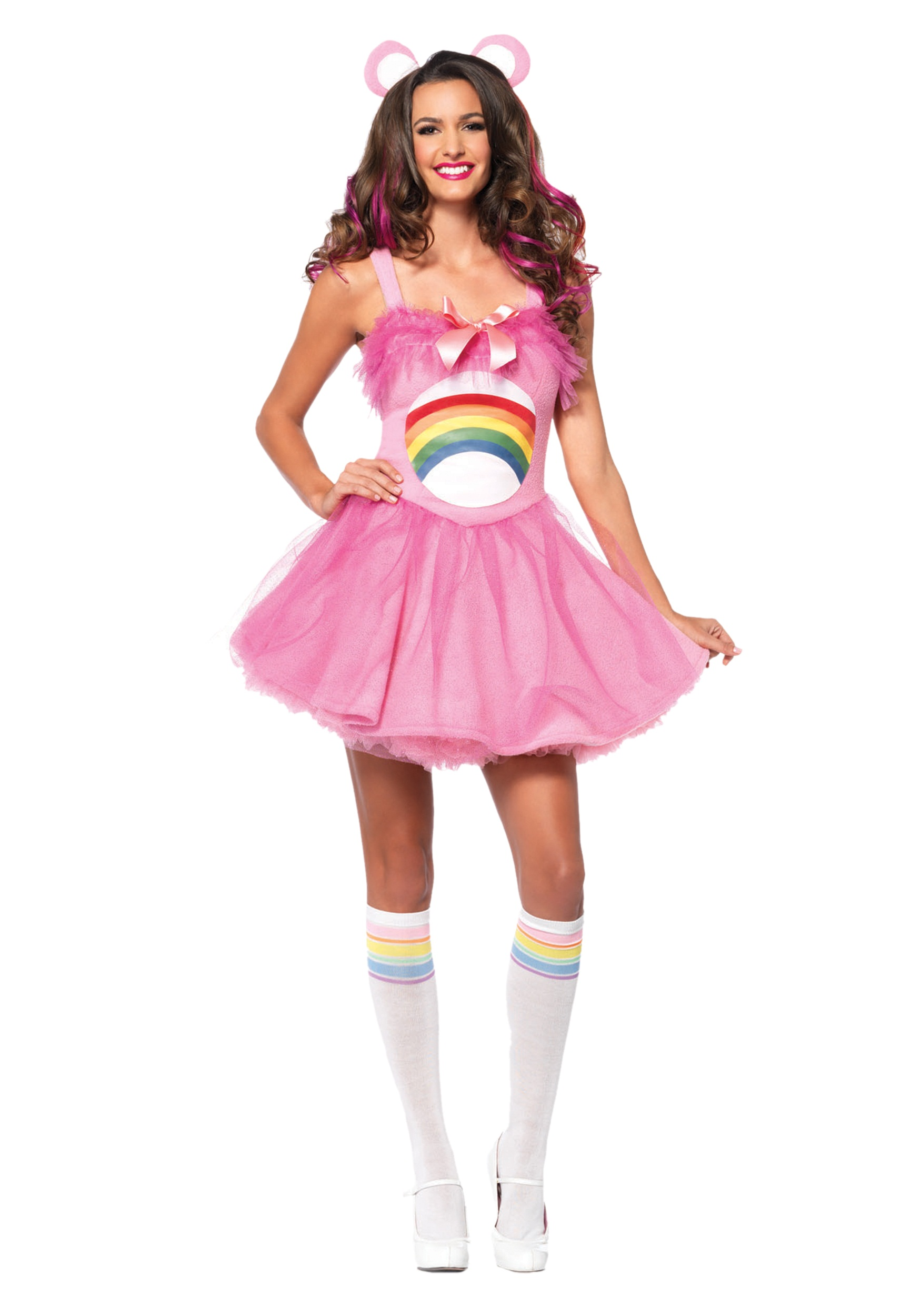 Adult Care Bears Cheer Bear Costume  sc 1 st  Halloween Costumes & Adult Care Bears Cheer Bear Costume - Halloween Costumes