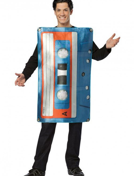 Adult Cassette Tape Costume, halloween costume (Adult Cassette Tape Costume)