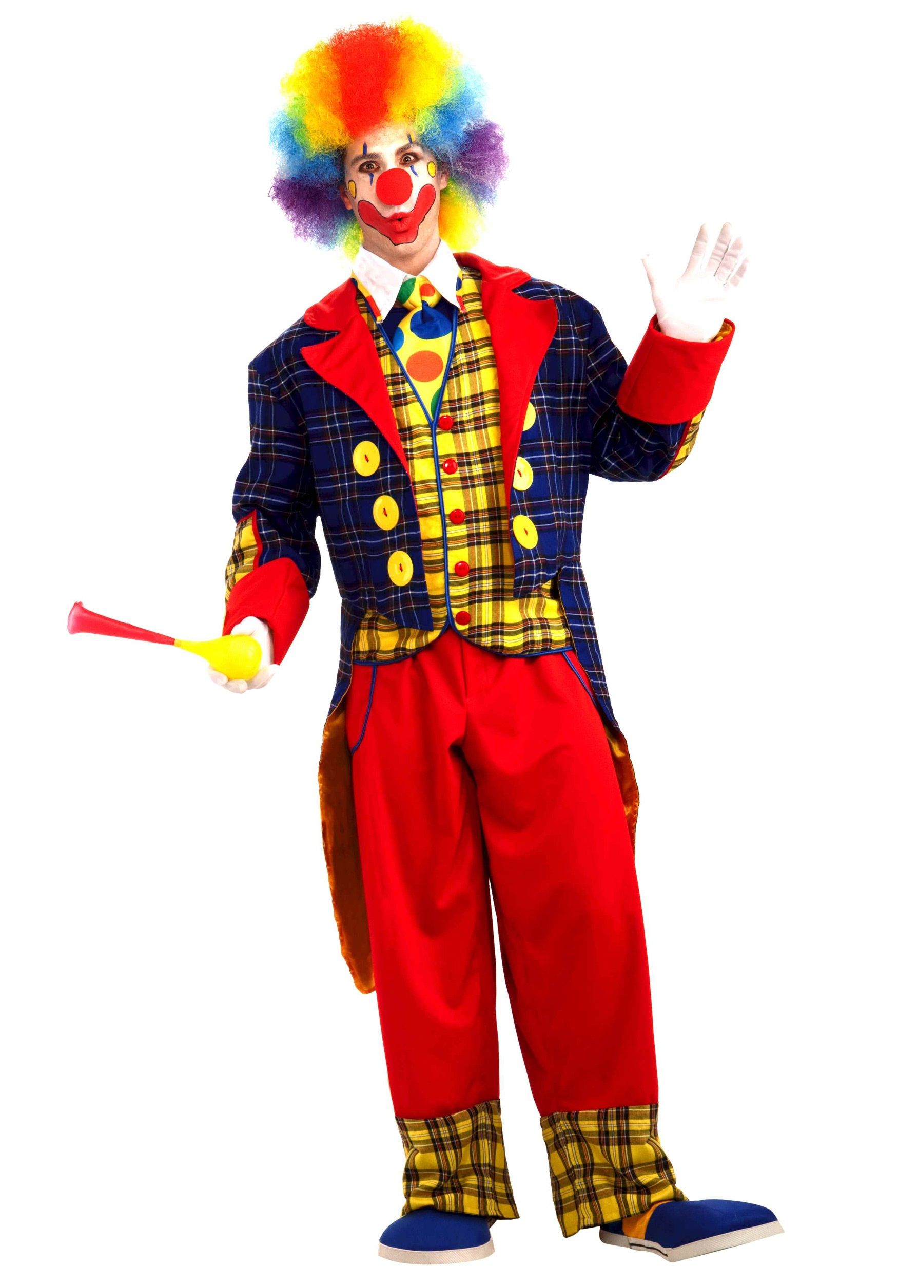 Adult Checkers the Clown Costume  sc 1 st  Halloween Costumes & Adult Checkers the Clown Costume - Halloween Costumes