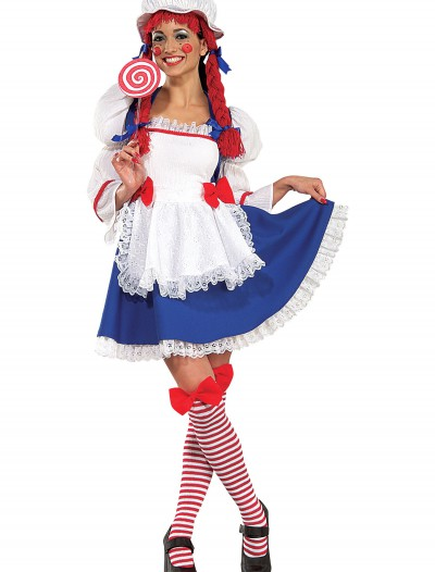 Adult Cheerful Rag Doll Costume, halloween costume (Adult Cheerful Rag Doll Costume)