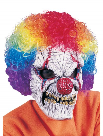 Adult Clown Mask with Wig, halloween costume (Adult Clown Mask with Wig)