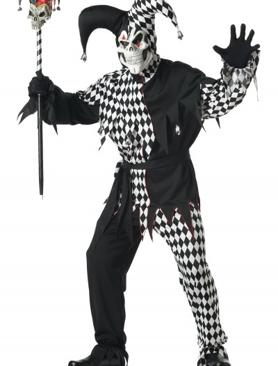 Adult Dark Jester Costume, halloween costume (Adult Dark Jester Costume)