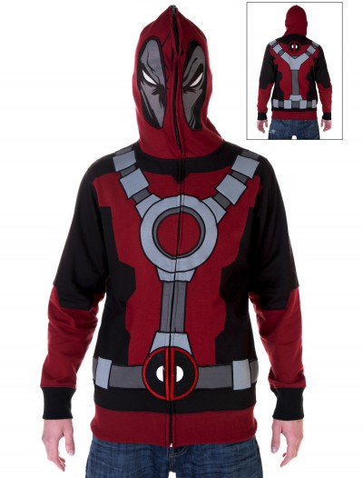 Adult Deadpool Hoodie, halloween costume (Adult Deadpool Hoodie)