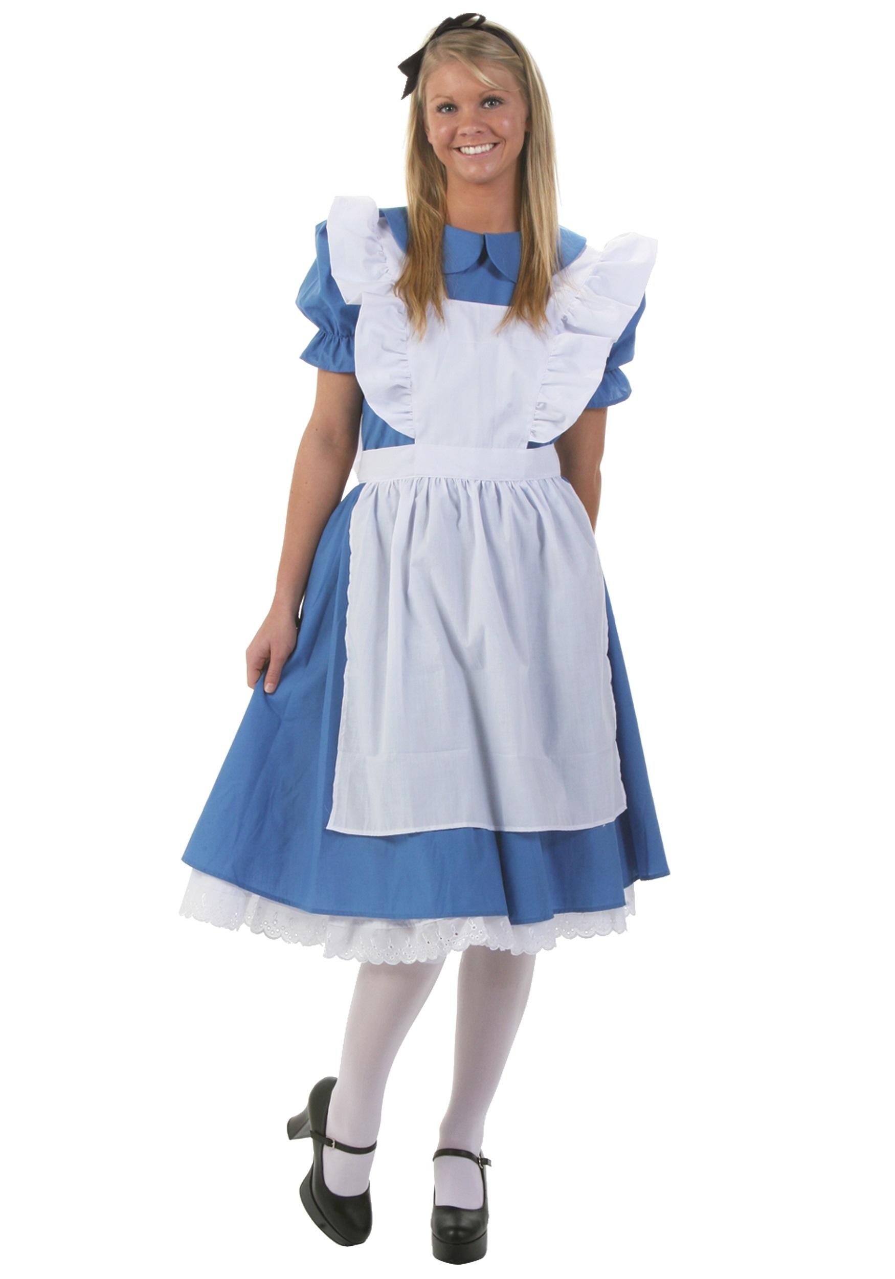 adult deluxe alice costume - halloween costumes