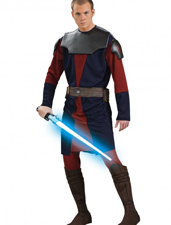 Adult Deluxe Anakin Skywalker Clone Wars Costume, halloween costume (Adult Deluxe Anakin Skywalker Clone Wars Costume)