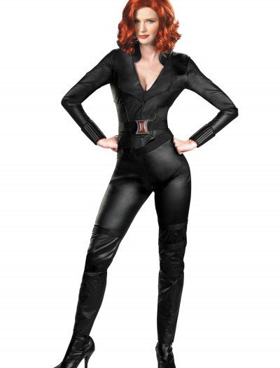 Adult Deluxe Avengers Black Widow Costume, halloween costume (Adult Deluxe Avengers Black Widow Costume)