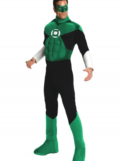 Adult Deluxe Green Lantern Costume, halloween costume (Adult Deluxe Green Lantern Costume)