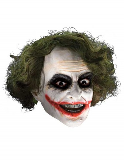 Adult Deluxe Joker Mask with Hair, halloween costume (Adult Deluxe Joker Mask with Hair)