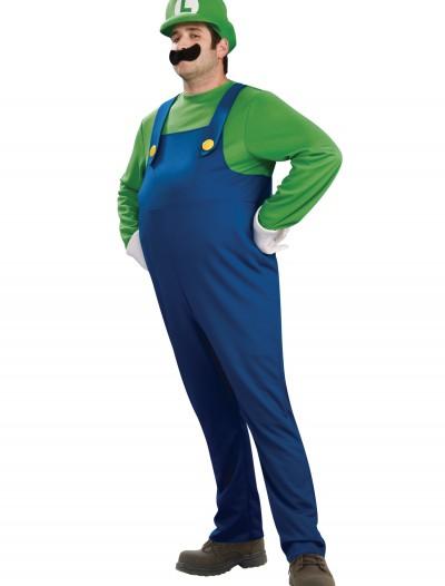 Adult Deluxe Luigi Costume, halloween costume (Adult Deluxe Luigi Costume)