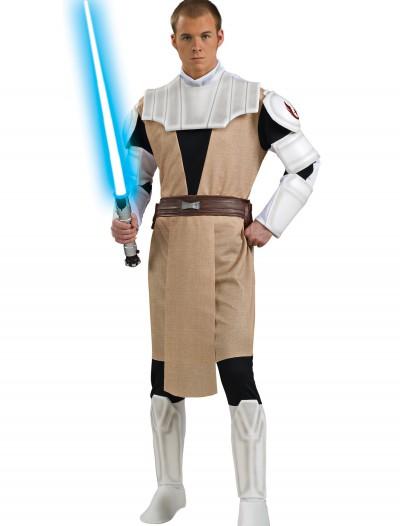 Adult Deluxe Obi Wan Kenobi Clone Wars Costume, halloween costume (Adult Deluxe Obi Wan Kenobi Clone Wars Costume)