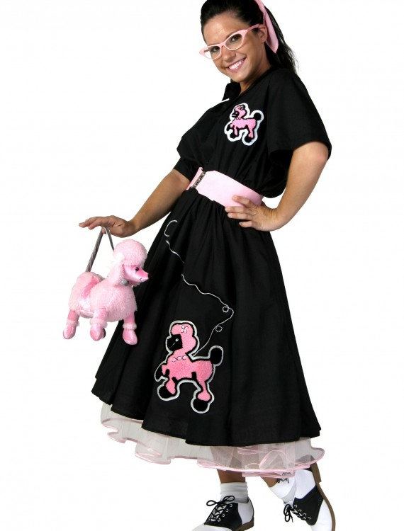 Adult Deluxe Poodle Skirt Costume, halloween costume (Adult Deluxe Poodle Skirt Costume)