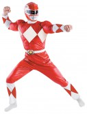 Adult Deluxe Red Power Ranger Costume, halloween costume (Adult Deluxe Red Power Ranger Costume)