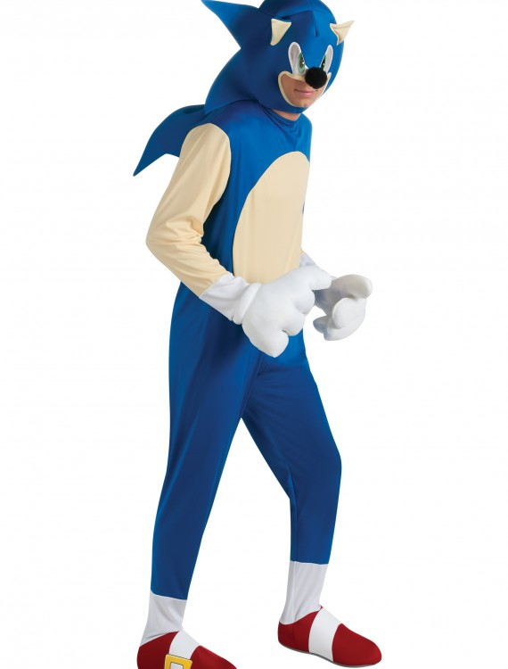 Adult Deluxe Sonic Costume, halloween costume (Adult Deluxe Sonic Costume)